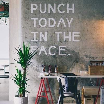 Punch Today in the Face Sign