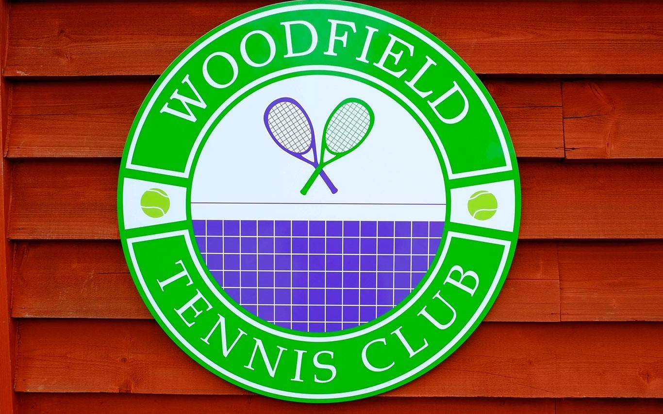Woodfield Tennis Club Sign 2
