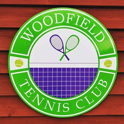 Woodsfield Tennis Club Sign